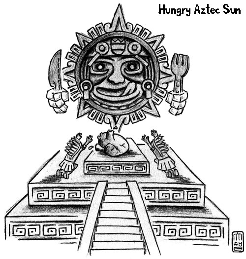 Hungry Aztec Sun