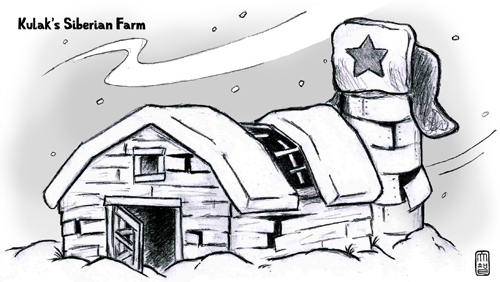 Illustration from High Political Heresy #2 - Chapter 5 - Kulak's Siberian Farm